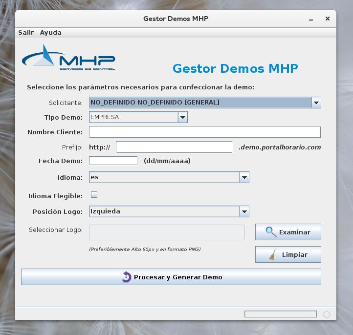 Aplicación 'Gestor Demos', de MHP
